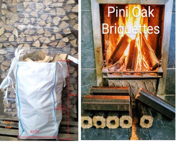 Barrow-bag Pini-oak-briquettes